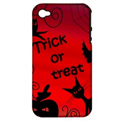 Trick Or Treat   Halloween Landscape Apple Iphone 4/4s Hardshell Case (pc+silicone) by Valentinaart