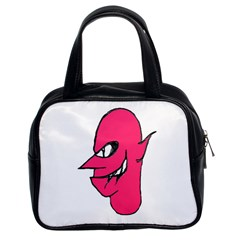 Devil Face Character Illustration Classic Handbags (2 Sides) by dflcprints