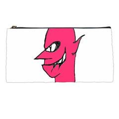 Devil Face Character Illustration Pencil Cases by dflcprints