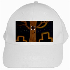 Halloween   Cemetery Evil Tree White Cap by Valentinaart
