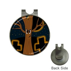 Halloween   Cemetery Evil Tree Hat Clips With Golf Markers by Valentinaart