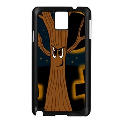 Halloween   Cemetery Evil Tree Samsung Galaxy Note 3 N9005 Case (black) by Valentinaart