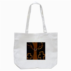 Halloween   Cemetery Evil Tree Tote Bag (white) by Valentinaart