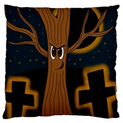 Halloween   Cemetery Evil Tree Standard Flano Cushion Case (two Sides) by Valentinaart