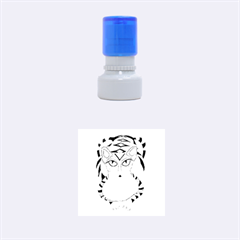 Peacock Tabby Rubber Round Stamps (small) by jbyrdyoga