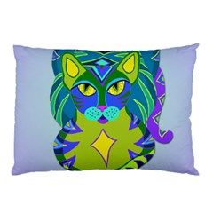 Peacock Tabby Pillow Case (two Sides) by jbyrdyoga
