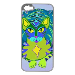 Peacock Tabby Apple Iphone 5 Case (silver) by jbyrdyoga