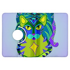 Peacock Tabby Kindle Fire HDX Flip 360 Case by jbyrdyoga