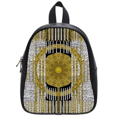 Silver And Gold Is The Way To Luck School Bags (small)