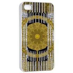 Silver And Gold Is The Way To Luck Apple Iphone 4/4s Seamless Case (white) by pepitasart
