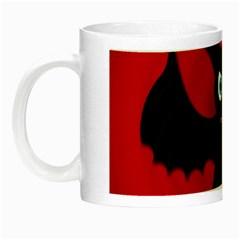Halloween Bat Night Luminous Mugs by Valentinaart