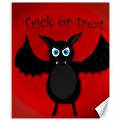 Halloween Bat Canvas 8  X 10  by Valentinaart