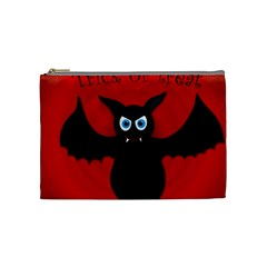 Halloween Bat Cosmetic Bag (medium)  by Valentinaart