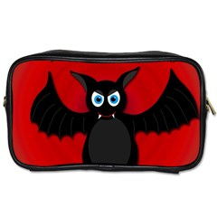 Halloween Bat Toiletries Bags 2 Side by Valentinaart
