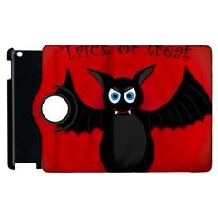 Halloween Bat Apple Ipad 3/4 Flip 360 Case by Valentinaart