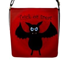 Halloween Bat Flap Messenger Bag (l)  by Valentinaart