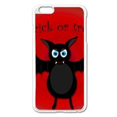 Halloween Bat Apple Iphone 6 Plus/6s Plus Enamel White Case by Valentinaart