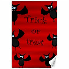 Halloween Bats  Canvas 20  X 30   by Valentinaart