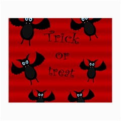 Halloween Bats  Small Glasses Cloth (2 Side) by Valentinaart