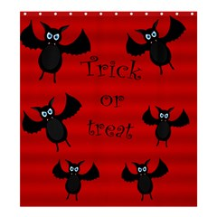 Halloween Bats  Shower Curtain 66  X 72  (large)  by Valentinaart