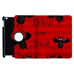 Halloween Bats  Apple Ipad 2 Flip 360 Case by Valentinaart