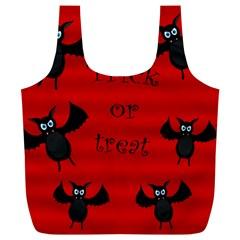Halloween Bats  Full Print Recycle Bags (l)  by Valentinaart