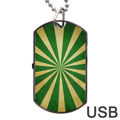 Colored Vintage Dog Tag Usb Flash (one Side) by AnjaniArt