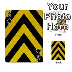 Construction Hazard Stripes Playing Cards 54 Designs  by AnjaniArt