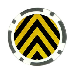 Construction Hazard Stripes Poker Chip Card Guards (10 pack)  by AnjaniArt