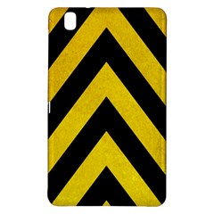Construction Hazard Stripes Samsung Galaxy Tab Pro 8 4 Hardshell Case by AnjaniArt