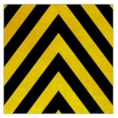 Construction Hazard Stripes Large Satin Scarf (square) by AnjaniArt