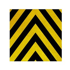 Construction Hazard Stripes Small Satin Scarf (square) by AnjaniArt
