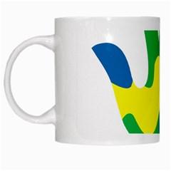 Creativity Painted Hand Copy White Mugs by AnjaniArt