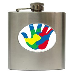 Creativity Painted Hand Copy Hip Flask (6 oz) by AnjaniArt
