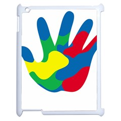 Creativity Painted Hand Copy Apple Ipad 2 Case (white) by AnjaniArt