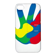 Creativity Painted Hand Copy Apple Iphone 4/4s Hardshell Case With Stand by AnjaniArt
