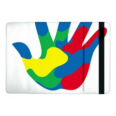 Creativity Painted Hand Copy Samsung Galaxy Tab Pro 10 1  Flip Case by AnjaniArt