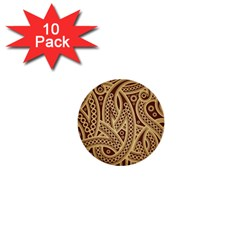 European Fine Pattern 1  Mini Buttons (10 Pack)  by AnjaniArt