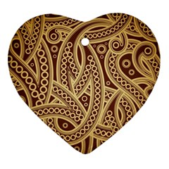 European Fine Pattern Heart Ornament (2 Sides) by AnjaniArt