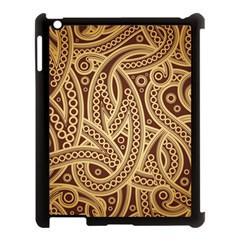 European Fine Pattern Apple Ipad 3/4 Case (black) by AnjaniArt