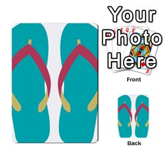 Flip Flop Slippers Copy Multi Purpose Cards (rectangle)  by AnjaniArt