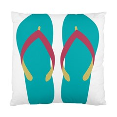 Flip Flop Slippers Copy Standard Cushion Case (one Side) by AnjaniArt