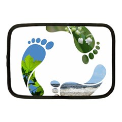 Footprint Recycle Sign Netbook Case (medium)  by AnjaniArt