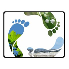 Footprint Recycle Sign Fleece Blanket (Small) by AnjaniArt