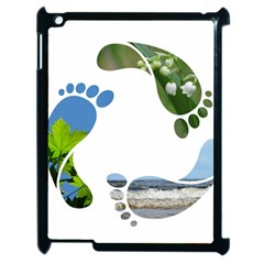 Footprint Recycle Sign Apple iPad 2 Case (Black) by AnjaniArt