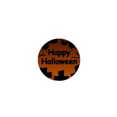Happy Halloween   Bats On The Cemetery 1  Mini Buttons by Valentinaart