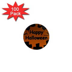 Happy Halloween   Bats On The Cemetery 1  Mini Magnets (100 Pack)  by Valentinaart