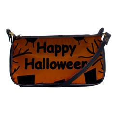 Happy Halloween   Bats On The Cemetery Shoulder Clutch Bags by Valentinaart