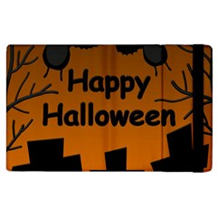 Happy Halloween   Bats On The Cemetery Apple Ipad 3/4 Flip Case by Valentinaart