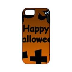 Happy Halloween - bats on the cemetery Apple iPhone 5 Classic Hardshell Case (PC+Silicone)